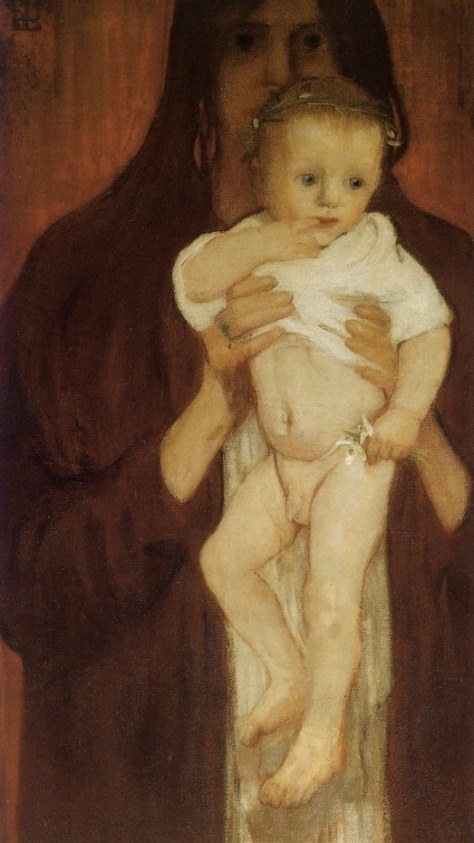 Self Portrait with her son Peter