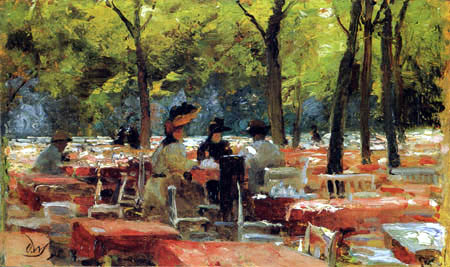 In the Beer Garden (later retitled Breakfast at Karlsbad), 1895