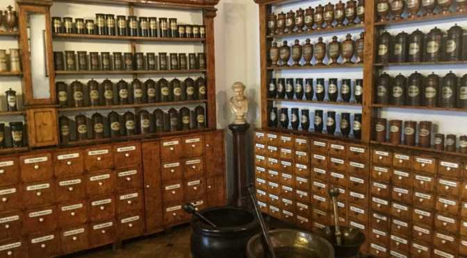 Glass, Wood, Animals, Books: The wonders of old pharmacies