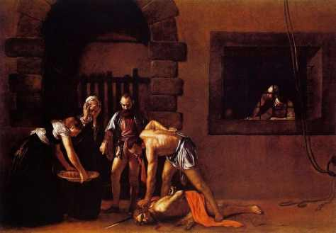 beheading-of-saint-john-the-baptist- Caravaggio