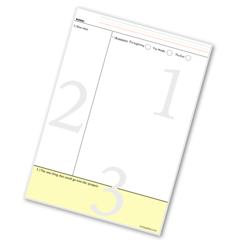 A free printable for taking cornell notes for your book idea.