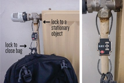 double sided lock - what to pack solo female travel - writing from nowhere