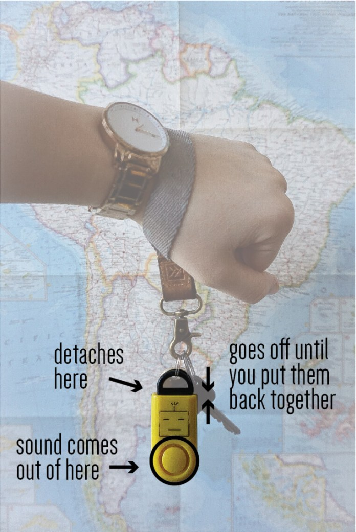 sound grenade - what to pack solo female travel - writing from nowhere