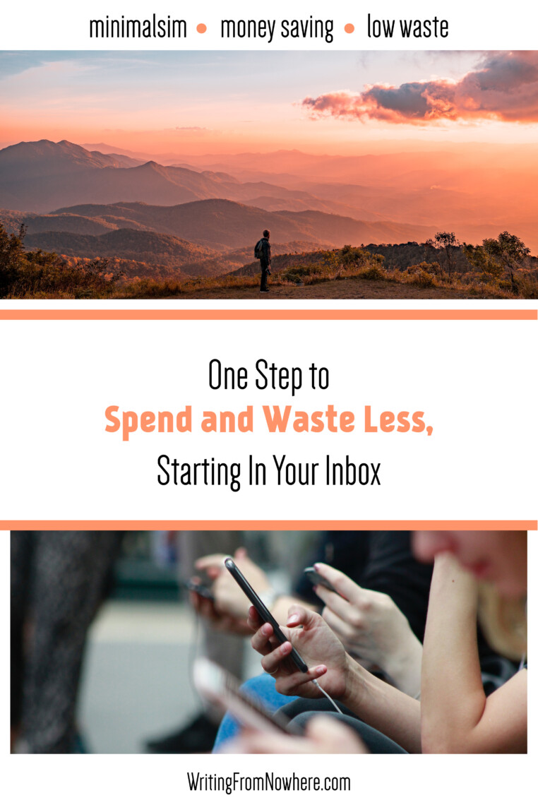 one step to spend and waste less inbox_writing from nowhere