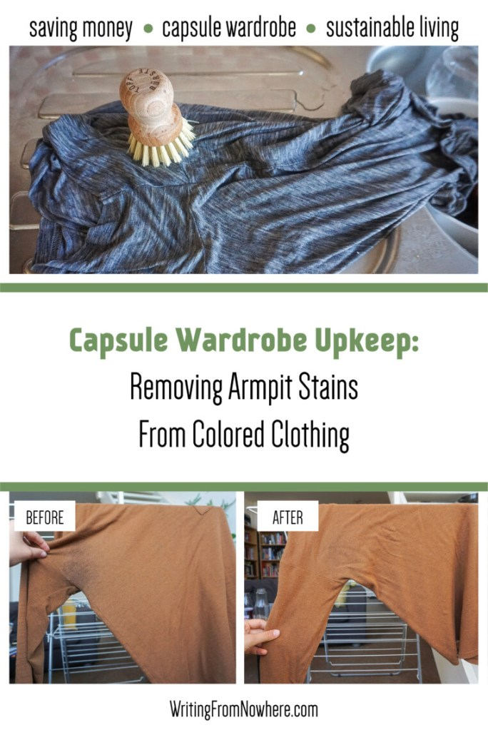 Removing armpit stains from colored clothing_Writing From Nowhere