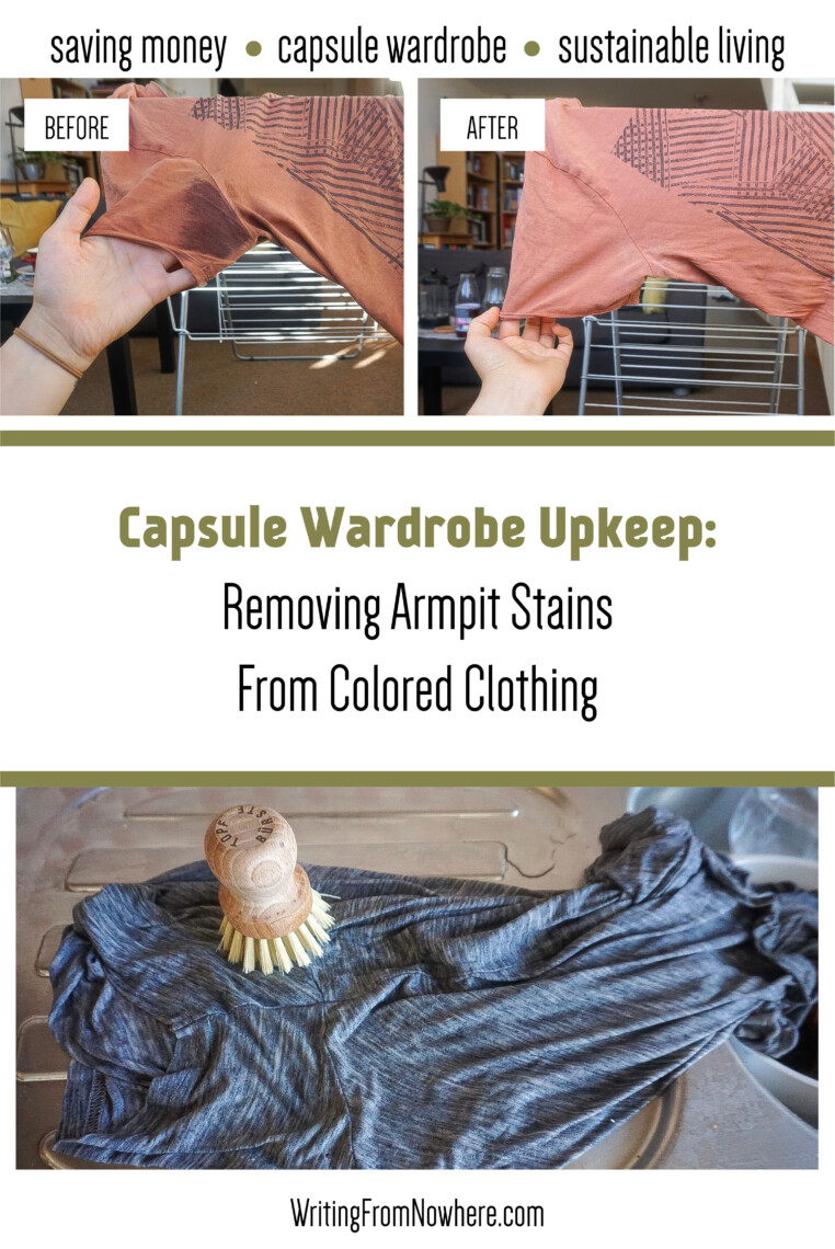 removing armpit stains from colored clothing_writingfromnowhere.com