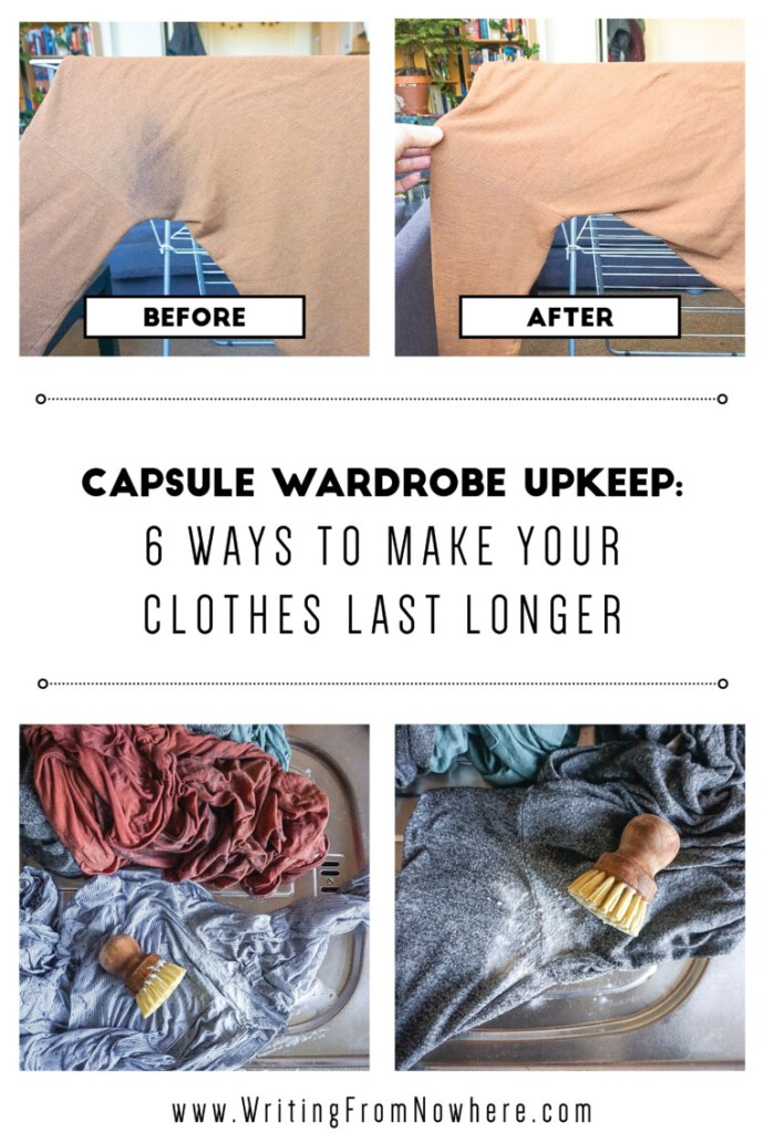 Capsule wardrobe upkeep_Writing From Nowhere
