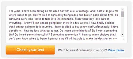 English Grammar correction demo
