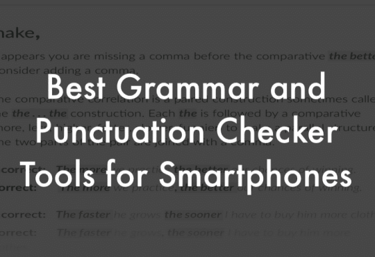 Grammar and Punctuation correction tools
