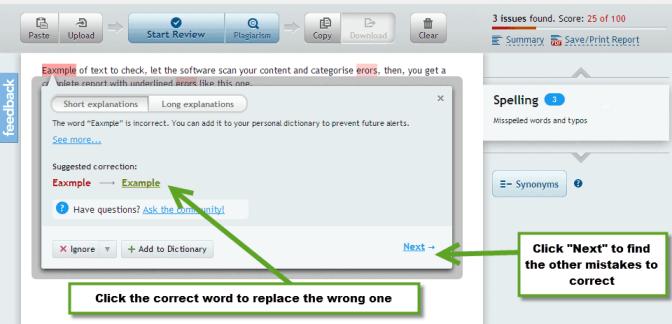 spell and Grammar checker software