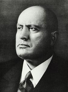 Benito Mussolini, Italian Prime Minister, 1922-1943