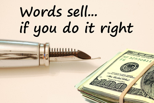 "Copywriting is ""words that sell"
