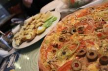 Mushrooms and vegetarian pizza. I think I'd like to eat pizza in every country I ever visit. New bucket list item.