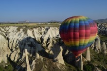 They took the balloons super high, and then lowered them into the valley. The pilots were impressive.