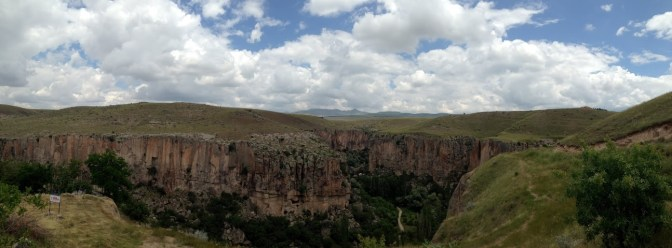 Panorama of the gorgeous valley. (Bethany's iphone is smarter than mine.)
