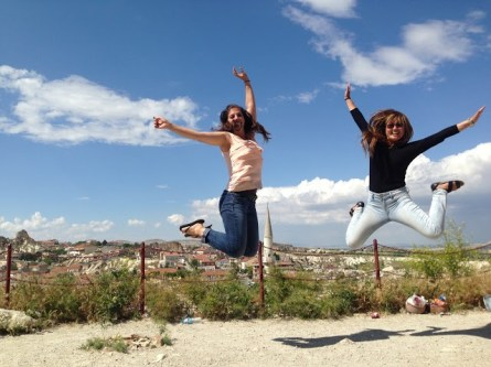 The first time we tried this, Bethany told me I needed to jump higher. Whoops.