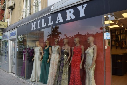 We also picked out gowns at the Hillary shop.