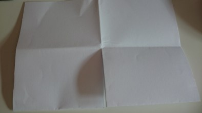 Crisp lines, snip the centre fold