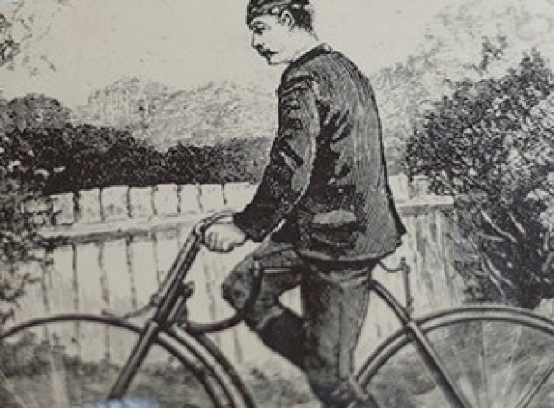 """William Bulfin is sketch Detail to the cover of his book """"Rambles in Eireann"""""""