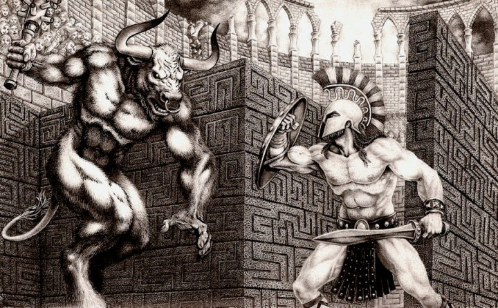 THESEUS_AND_THE_MINOTAUR_by_aka_maelstrom