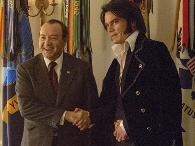 Kevin Spacey stars as Richard Nixon (left) and Michael Shannon stars as Elvis