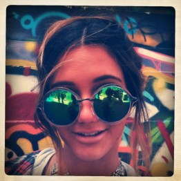 Street art, Melbourne. (*I hope this beautiful young woman in sunglasses, who allowed me to take her photo, does not mind being included)