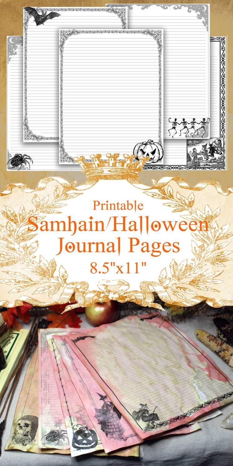 samhain printable paper pack