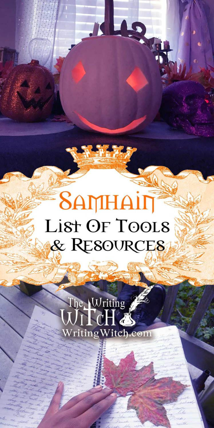 list of tools and resources on the witch's sabbat Samhain.