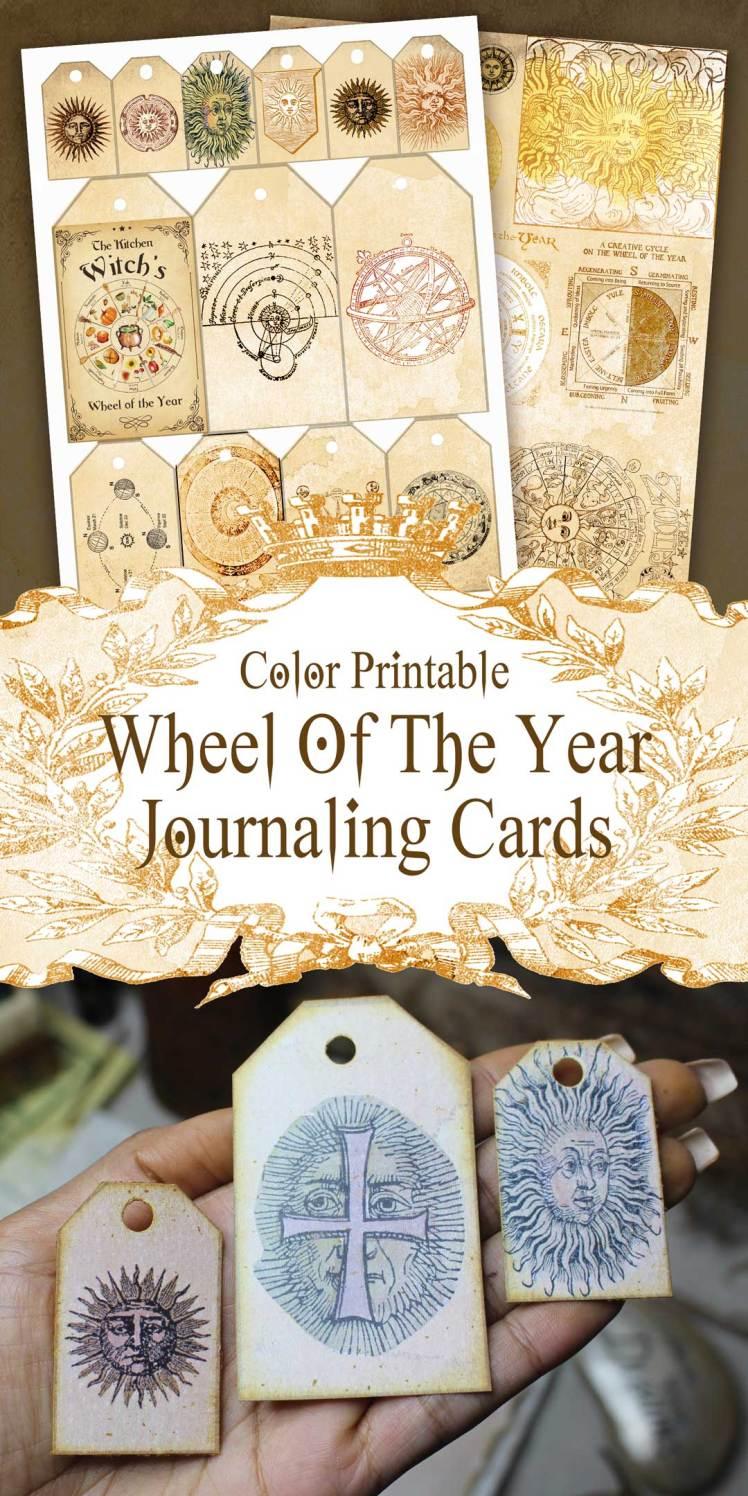 printable wheel of the year junk journaling ephemera