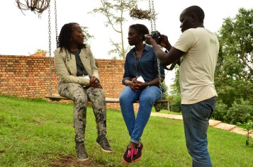 Tsitsi doing the interview