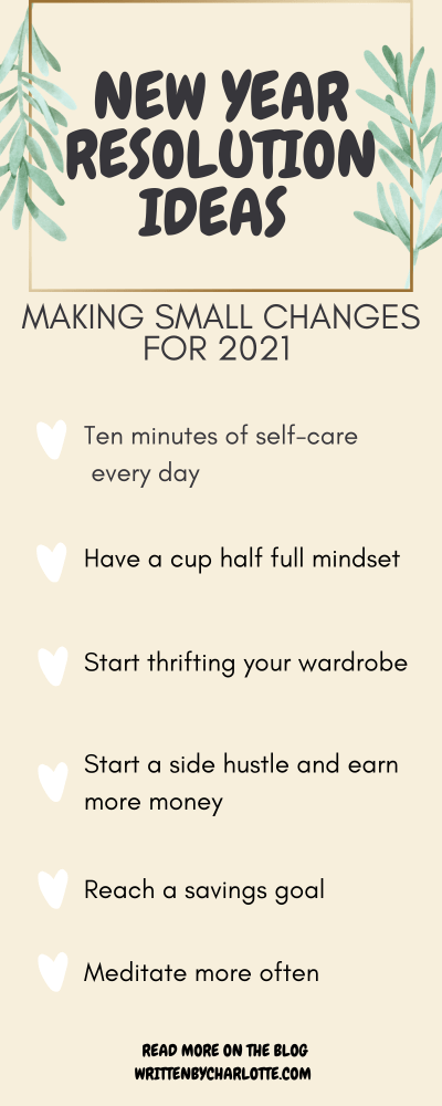 new year resolutions - List of goals and changes to make for 2021