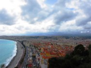 Panoramic view of the Nice with the Mediterranean Sea