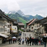 Gruyères is a famous medieval town known for its cheese - the Swiss cheese, Gruyère