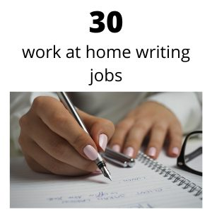 work at home writing jobs