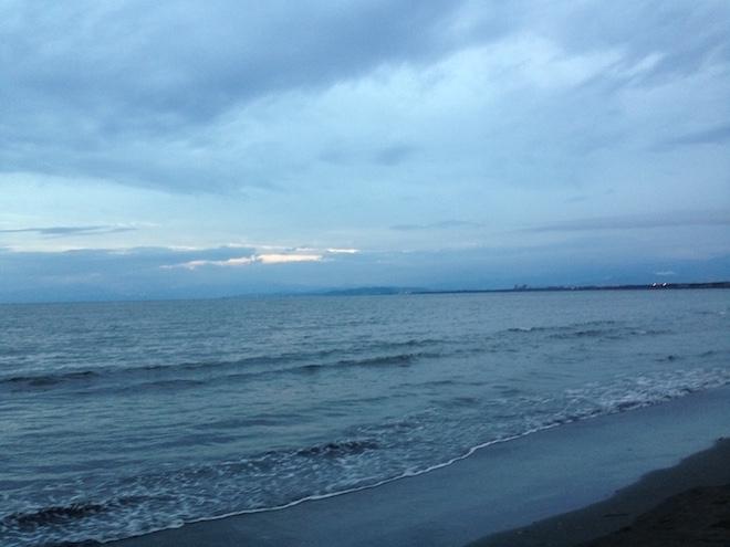 鵠沼海岸からの眺め