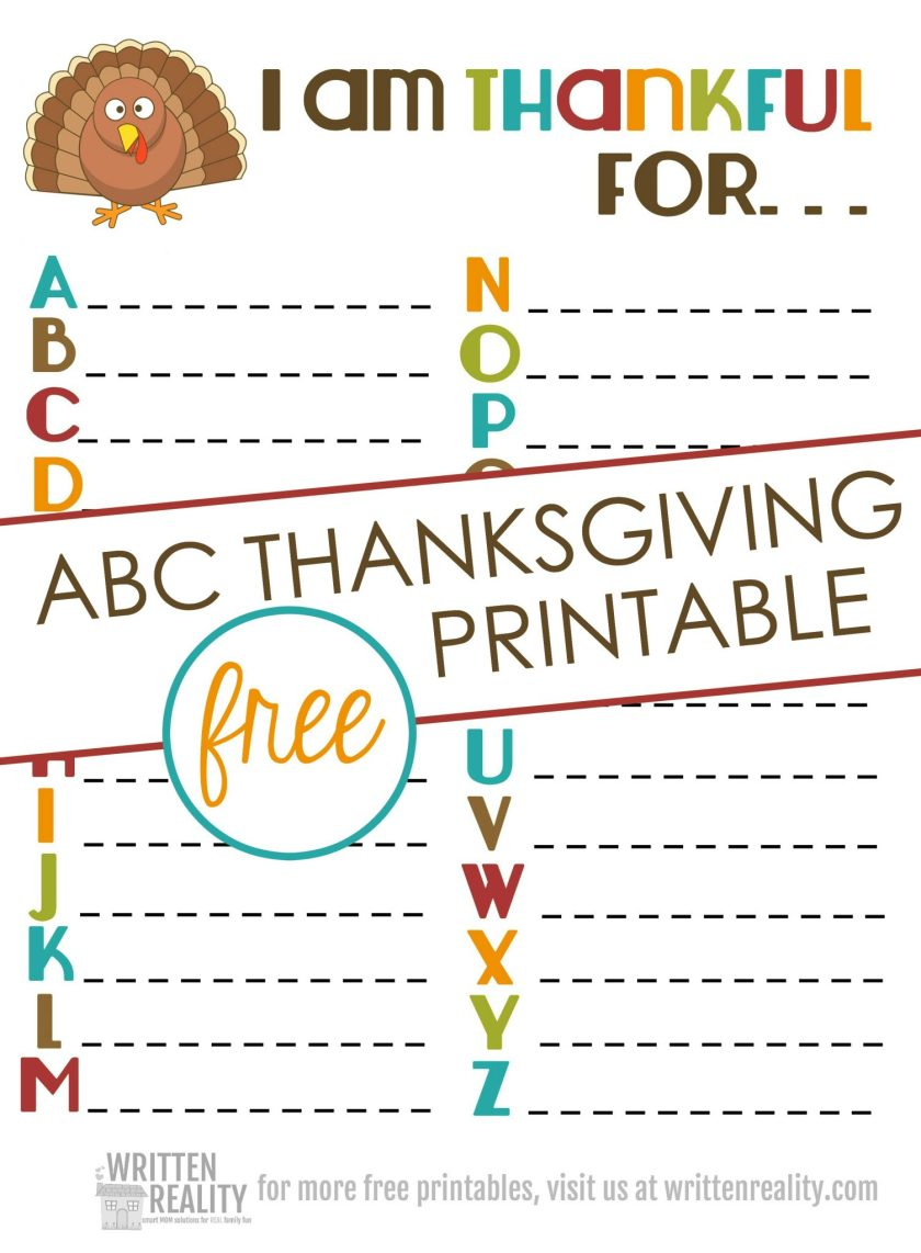 thankful abcs printable is perfect for thanksgiving