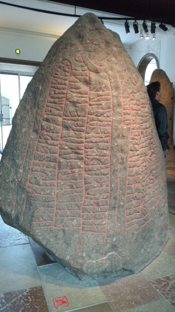 One of several rune stones. They were each at least 4 ft tall