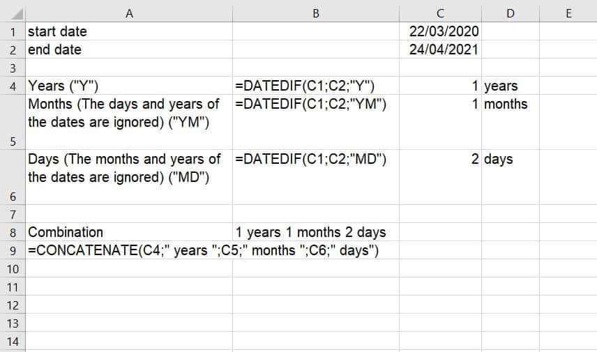How to Calculate Age Using DATEDIF Function in Excel