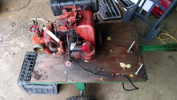 Starting with this cart.  I bought this old fire pump a few years ago, but unfortunately is really only effective as a transfer pump and I needed something that could pull more suction.  Anyone need a nice old Wisconsin engine?