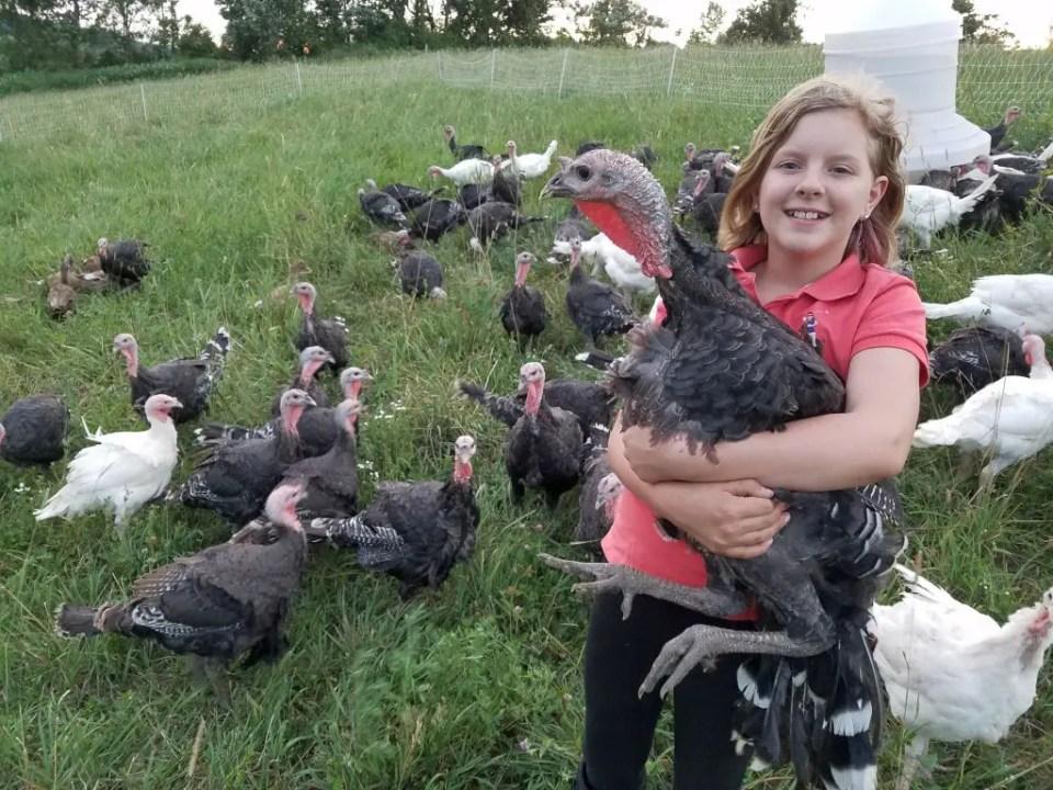Allie with Turkey