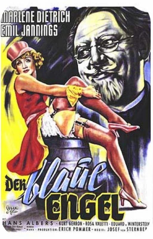 Cartel alemán para 'El ángel azul' (1930)