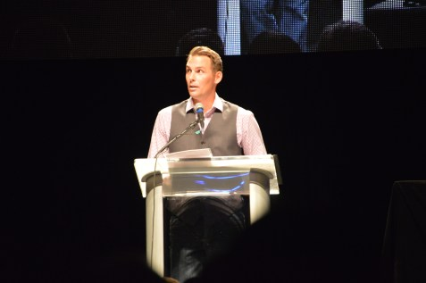 #NewCrew Event Host and former Crew player Brian Dunseth -- aka @originalwinger -- got things started.