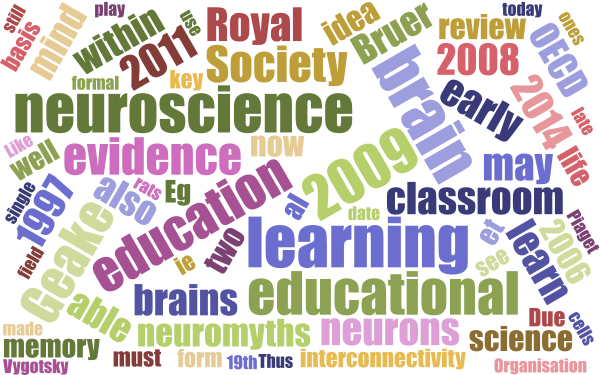 Learning Theory & Educational Neuroscience