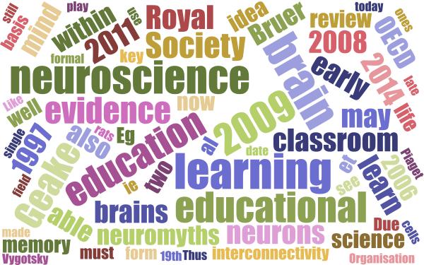 Learning Theory & Educational Neuroscience