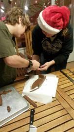 Gingerbread Boat Making.