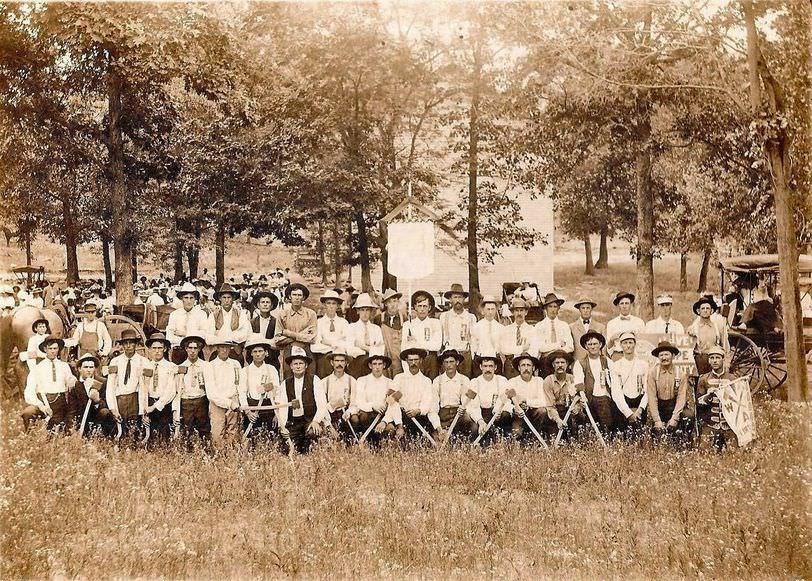 Old Bradleyville School and Woodsmen