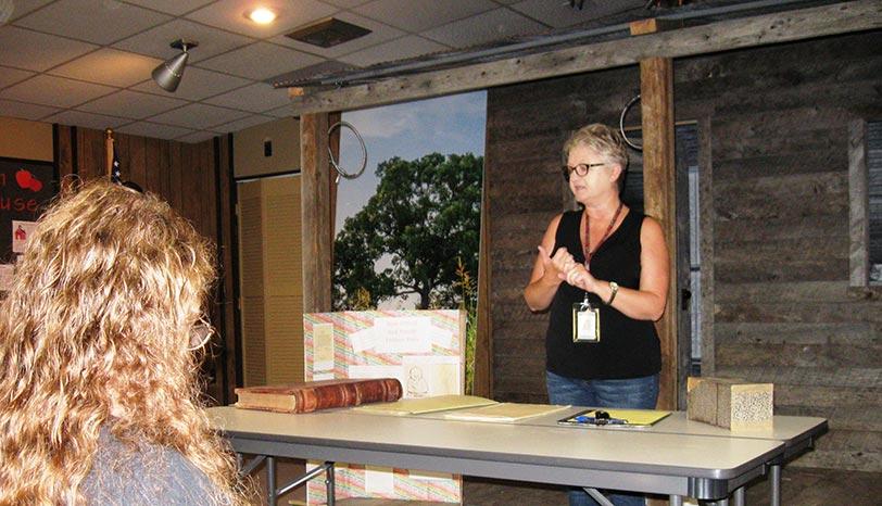Beth Wyman presenting a program on probate records