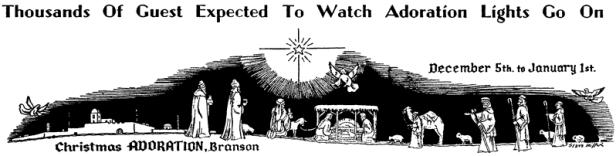 Adoration Scene Drawing