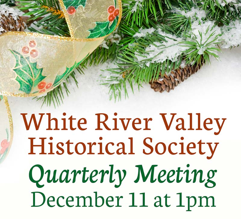 WRVHS's quarterly meeting on Sunday, December 11th