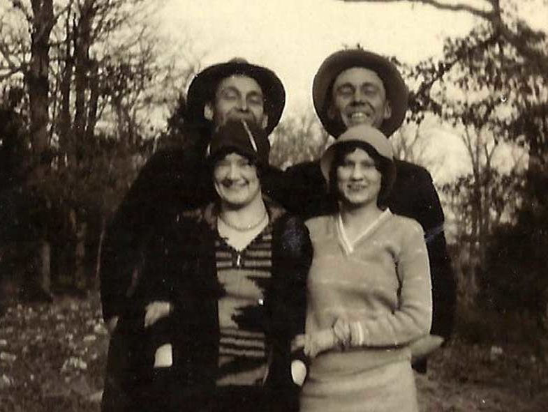 Wilton Adams, Sibyl Parrish, Emmett and Garnett Adams